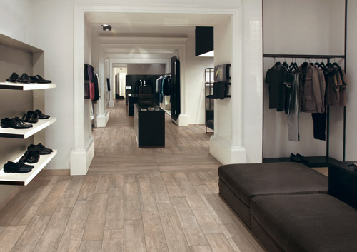 Menswear Retailer Featuring Globe Taupe Surfaces