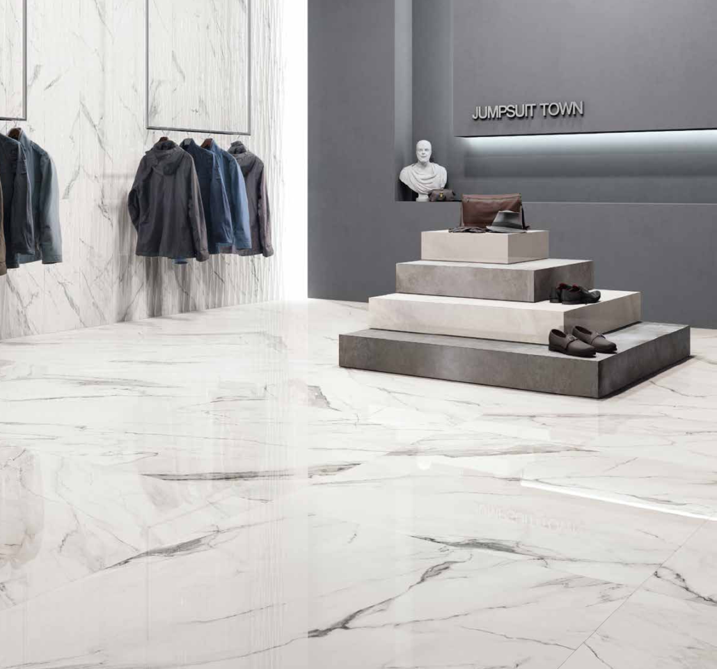 Retail Space Featuring Stone Tiles
