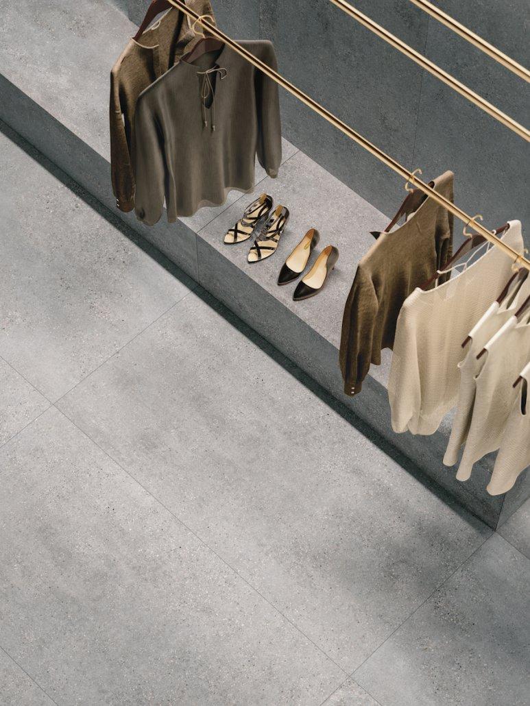 Large Closet Featuring Stone Tiles