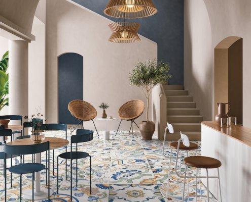 Modern Bar Featuring Fornace Amalfi Mix Tiles