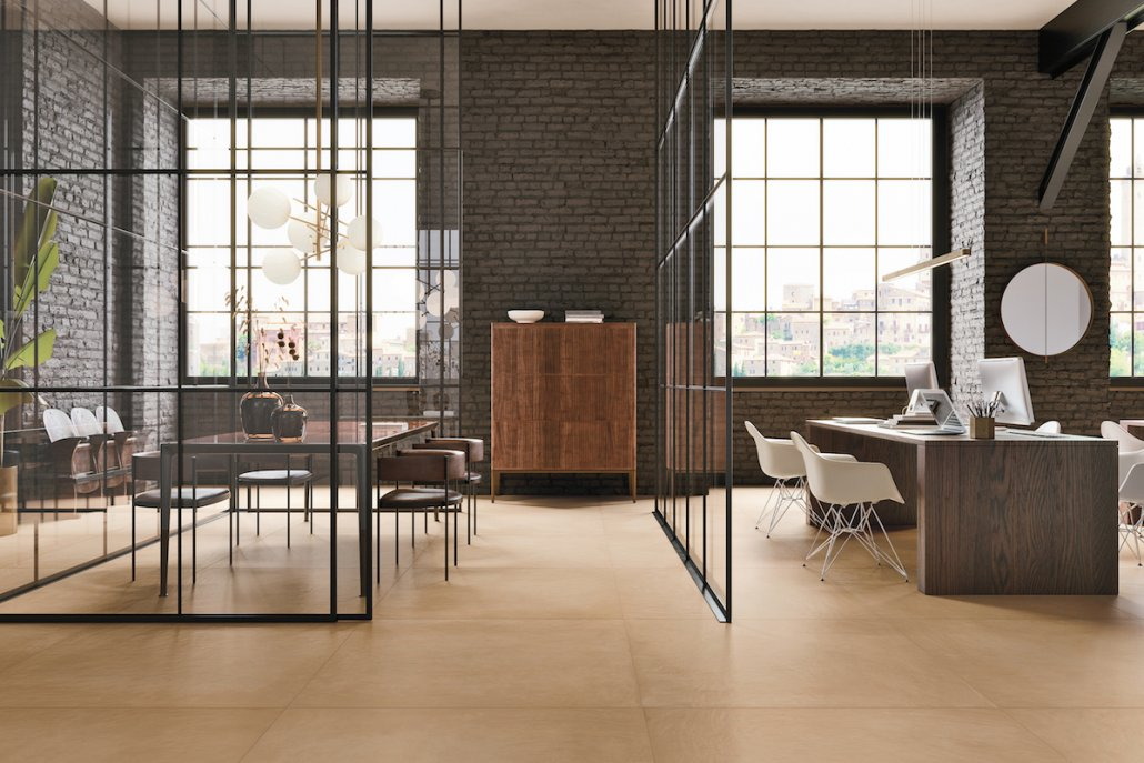 Fornace Zafferano Tiles in Modern Office Space